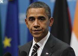 وقتی دوست جدید اوباما از دیدن باراک تعجب میکند + عکس