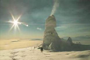 کوه آتشفشان یخی دیده بودید؟!!