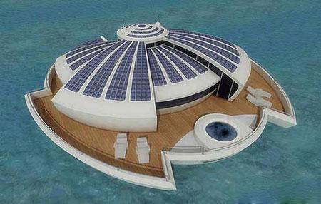 هتل شناور خورشیدی در ایتالیا + تصاویر
