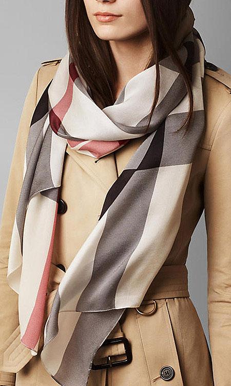 مدل شال و روسری Burberry